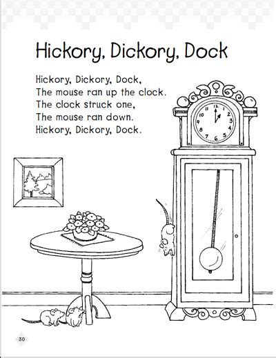 Hickory Dickory Dock: Early Reading Comprehension