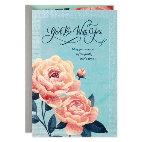 Pink Roses Religious Sympathy Card - Greeting Cards - Hallmark