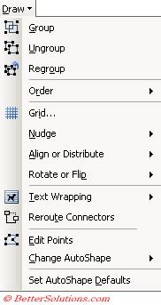 PowerPoint Illustrations - Drawing Toolbar