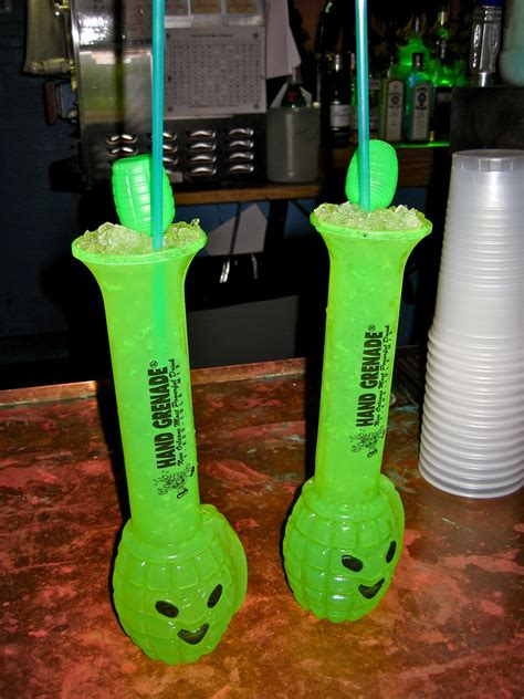 Hand Grenades, New Orleans, LA | The bar advertised these