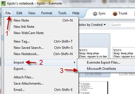 How to Import Notes from OneNote into Evernote