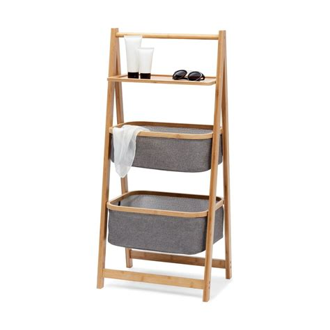 3 Tier Storage Caddy with Bamboo Frame | Kmart | Bamboo