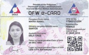 OWWA Issues OFW E-card For Its Members - Kwentong OFW