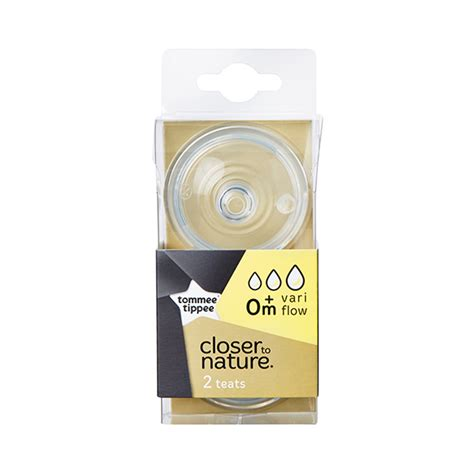 Tommee Tippee Closer to Nature Vari Flow Teats 0+Months