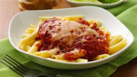 Slow-Cooker Chicken Parmesan with Penne Pasta recipe from