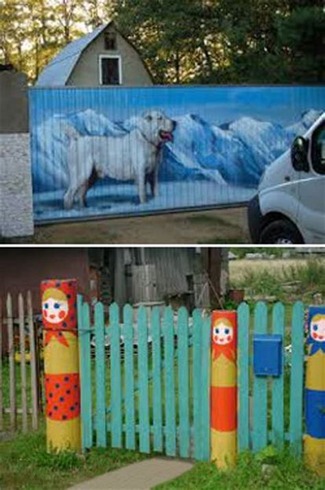 Colorful Painting Ideas for Fences Adding Bright