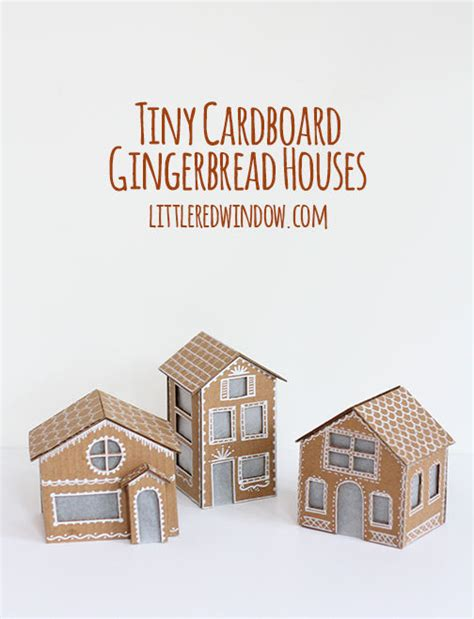 Tiny Cardboard Gingerbread Houses Pictures, Photos, and