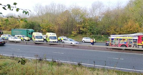 A46 partly closed after 'serious' 3-vehicle crash