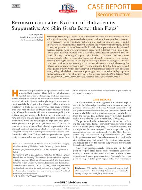 (PDF) Reconstruction after Excision of Hidradenitis