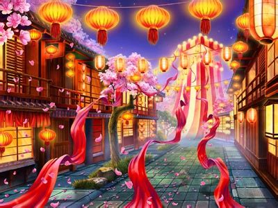 """Main Background for the online slot """"Summer Festival"""" by"""