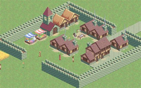 Isometric Medieval City Sim Assets | OpenGameArt