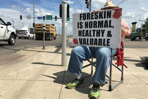 Anti-Male Circumcision Group Protests on Streets of St