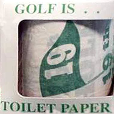 Humorous golf toilet seat and Potty putter | New golf