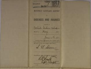 Monthly Sanitary Report of Diseases and Injuries, May 1897