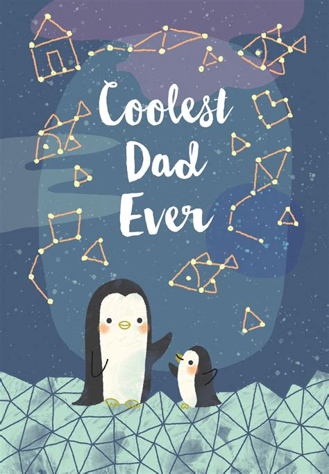 Cool Penguins - Father's Day Card (Free) | Greetings Island