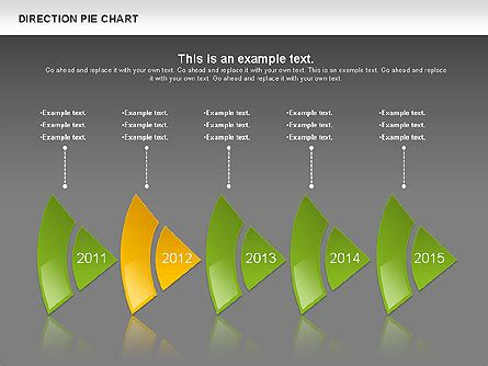 Direction Pie Chart for Presentations in PowerPoint and