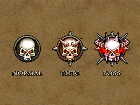 Enemy Difficulty Icons by Ivan Sanford on Dribbble