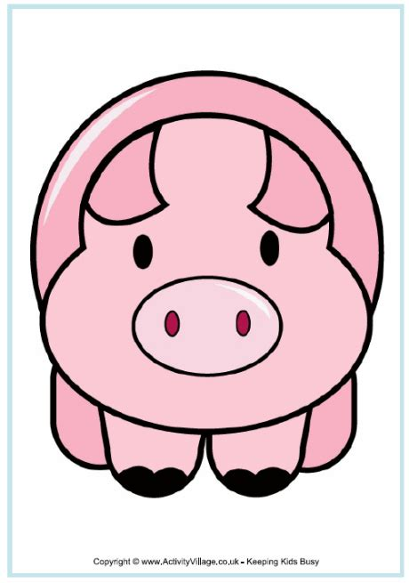 Free Pig Poster For Kids