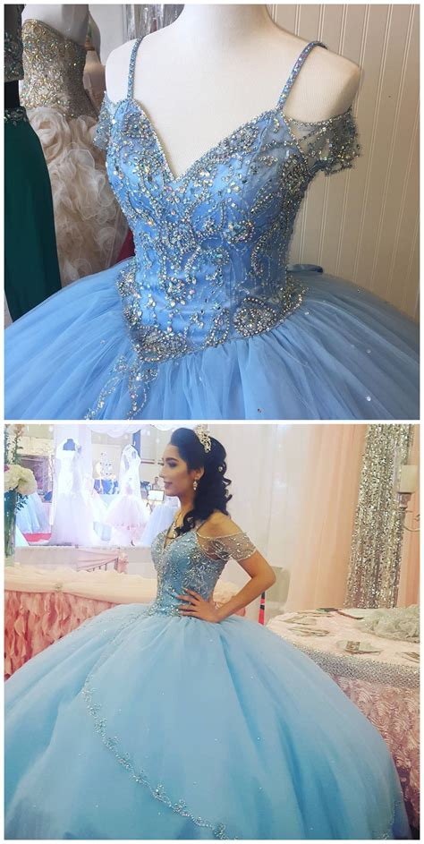 Cheap prom dresses , Sparkly Beading Bodice Blue