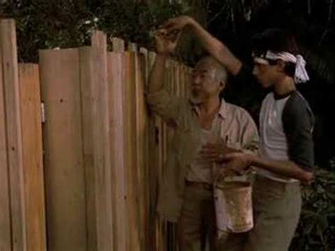 Karate Kid Lesson 4 (Paint the Fence) - YouTube