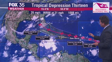 Florida in projected path of system that is likely to