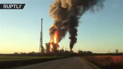 One of Italy's biggest oil refineries on fire after