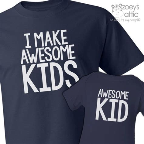 personalized mens shirt, awesome daddy and child, matching