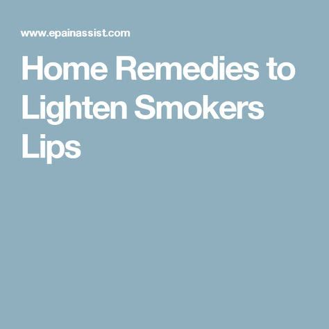 Home Remedies to Lighten Smokers Lips | Home remedy for
