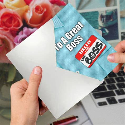 Thank You to a Great Boss: Creative Boss's Day Printed