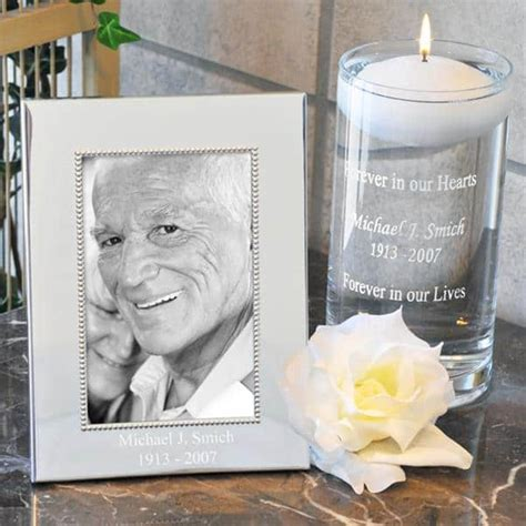 Personalized Memorial Candle and Frame