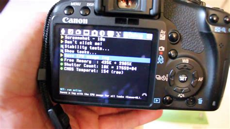 How to find shutter actuations Canon DSLR cameras T1i 500D