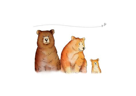 Personalised Bear Poster - Family of 3