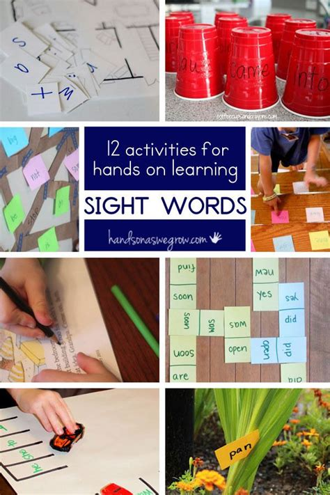 12 Hands on Sight Word Activities | Learning sight words