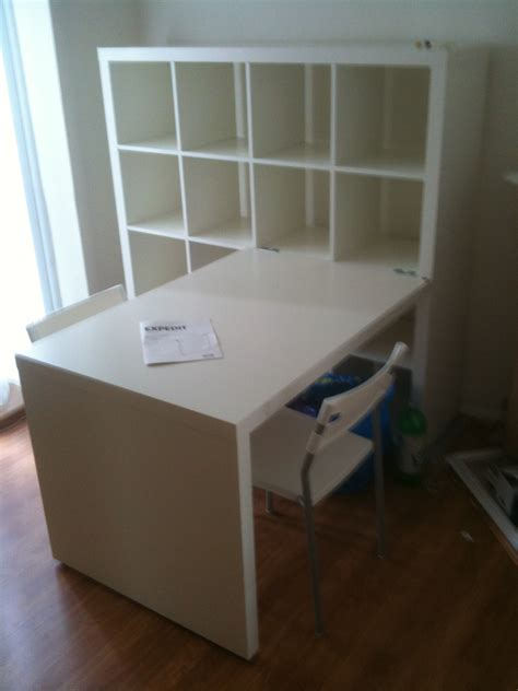 Workspace: Cool Home Office With Ikea Expedit Desk For